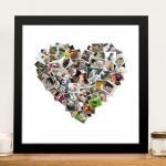 Heart Shaped Photo Collage-Framed-Wall-Art