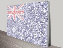 Personalised Flag Word Art