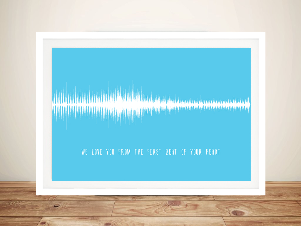 Soundwave Art for Babies Framed Wall Art   The First Beat of Your Heart