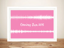 Custom Baby Heartbeat Soundwave Wall Art Prints Australia