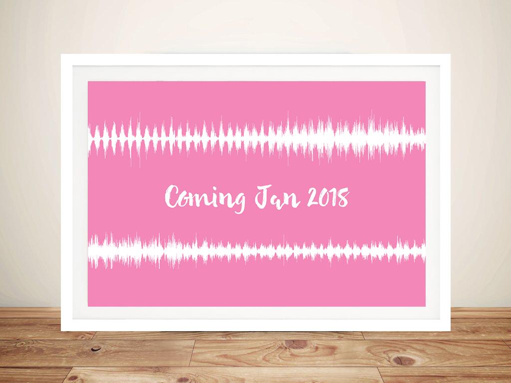 Custom Baby Heartbeat Soundwave Wall Art Prints Australia | A New Arrival