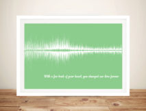 Personalised Soundwave Baby Heartbeat Wall Art Print