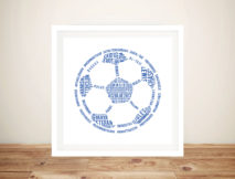 Soccer Ball Outline Sports Coach Customised Art Gift