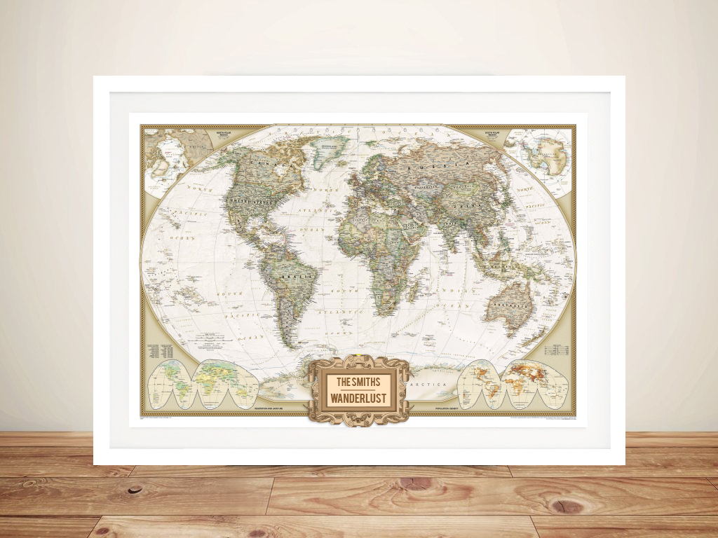 Wanderlust Adventure Push Pin World Map | NatGeo Push Pin World Map