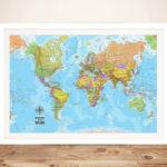 Voyager-Push-Pin-World-Map-Framed-Art