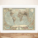Customised-Vintage-Push-Pin-World-Map-Canvas-Print