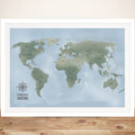 Cyan-World-Map-Art-with-Pins