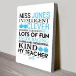 Personalised-Teacher-Canvas-Print