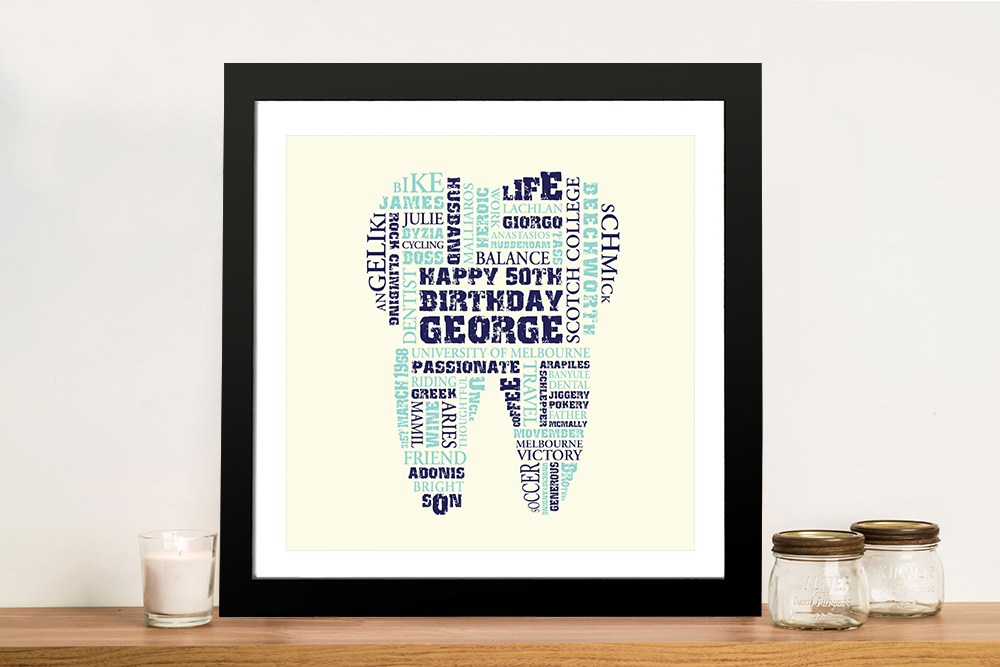 Personalised Dentist Gift Idea Framed Wall Art | Its a Tooth