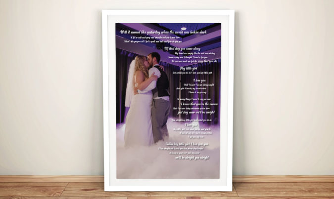 Wedding Mementos Present Idea Wall Art