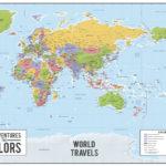 World-push-pin-map-australia-centric-wall-art