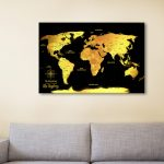Black-And-Gold-Pinboard-World-Map