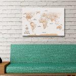 Light-Brown-Custom-Pinboard-World-Map