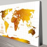 Personalised-White-&-Gold-Push-Pin-Travel-Map