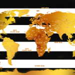 Push-Pins-White-Stripes-And-Gold-World-Travel-Map