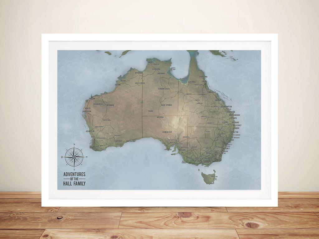 Custom Cyan Australia Push Pin Travel Map | Australia Push Pin Map – Cyan
