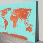 Orange-Custom-World-Map-canvas-print