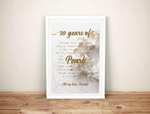 Pearl Wedding Anniversary Personalised Artwork