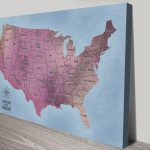 America-Magenta-Customisable-Push-Pin-Travel-Map