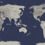 Australia-Pacific-Centred-Navy-Silver-Push-Pin-World-Map