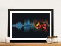 Personalised Soundwave Art with Photo Wall Canvas Brisbane