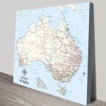 Customised-Australia-Light-Blue-Square-Push-Pin-Map-Gift