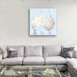 Customised-Australia-Push-Pin-Map-Gift- Canvas
