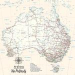 Personalised-Australia-Cream-Map-Art