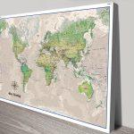 Poseidon-Pushpin-World-Map-Canvas-board