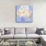 Custom-Australia-Square-Push-Pin-Map-Wall-Art