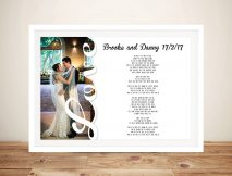 Personalised Photo Word Art Wedding Vows Gift Idea Au