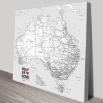 Customised-Australia-Map-2-Black-and-White-canvas-print