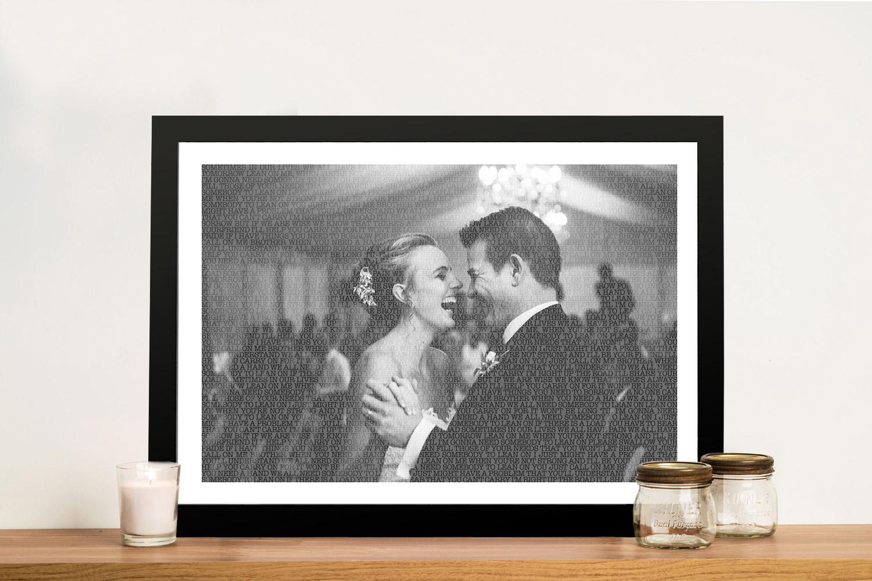 Photo Word Art Wedding Anniversary Gift Idea Australia | A Love Story Photo Overlay