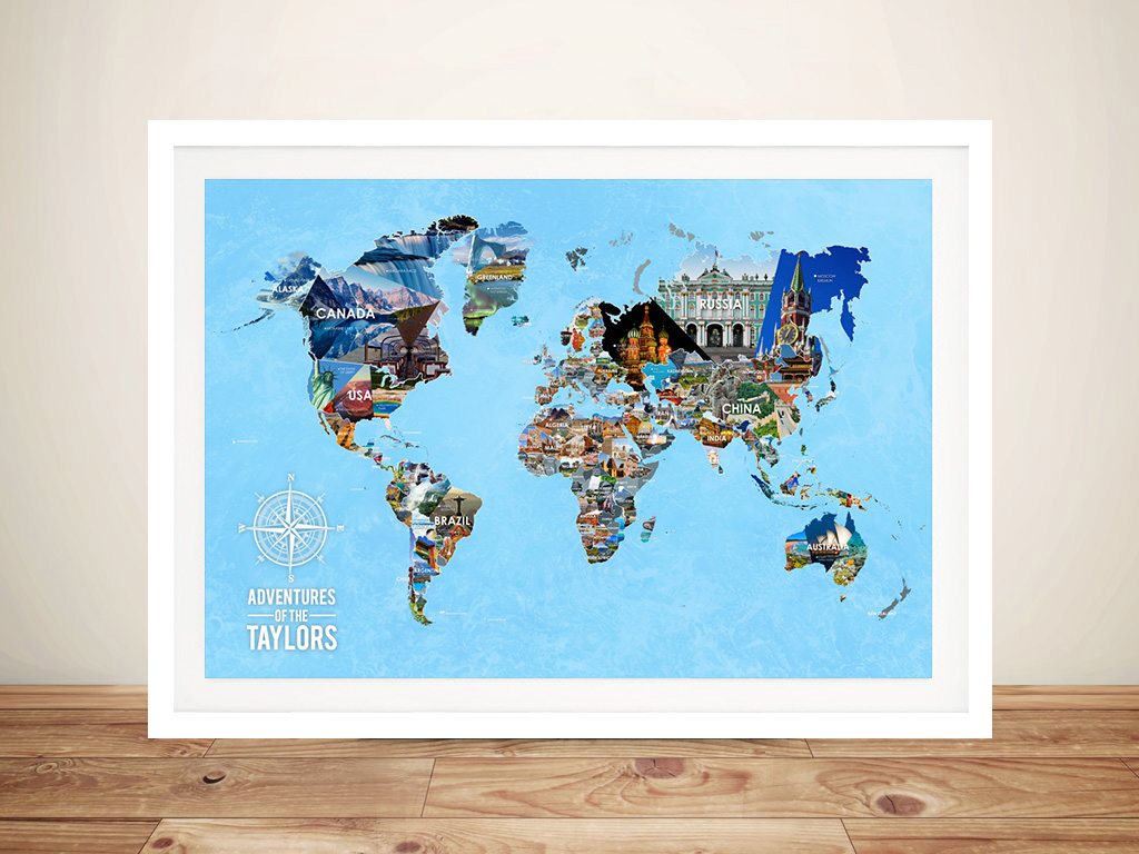 | Bucketlist World Map with Pins