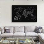 Chalkboard-World-Map-Canvas-Artwork-Online