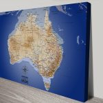 Australia-Blue-Push-Pin-Map-Canvas