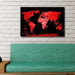 Personalised-Red-Pushpin-World-Map-Canvas-Art