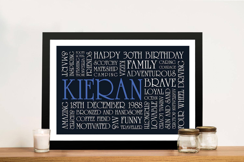 Buy Birthday Inspiration Bespoke Framed Wall Art | Birthday Inspiration