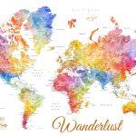 Buy-Custom-Watercolour-World-Map