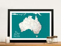 Personalised Australia Pinboard Map Wall Art