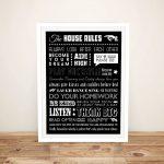 House-Rules-Mixed-Font-Framed-Wall-Art
