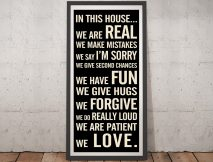 Personalised House Rules Tram Scroll Wall Art