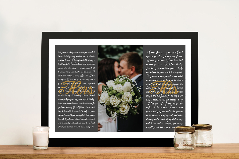 Wedding Vows Gifts Art