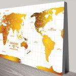 Custom-Australia-Centred-White-Gold-Push-pin-Map-canvas-print