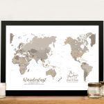 Buy-Bronze-Pacific-Centric-Map-Wall-Art
