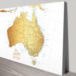 Australia-Detailed-Map-Gold-canvas-print
