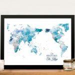 Australia-Centred-World-Pushpin-Travel-Map-Art