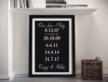 Love Story Framed Wall Art