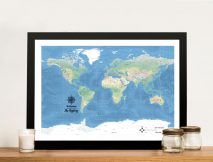 Buy a Miller Physical Classic Custom World Map