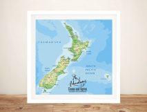 New Zealand Customised Pushpin Map